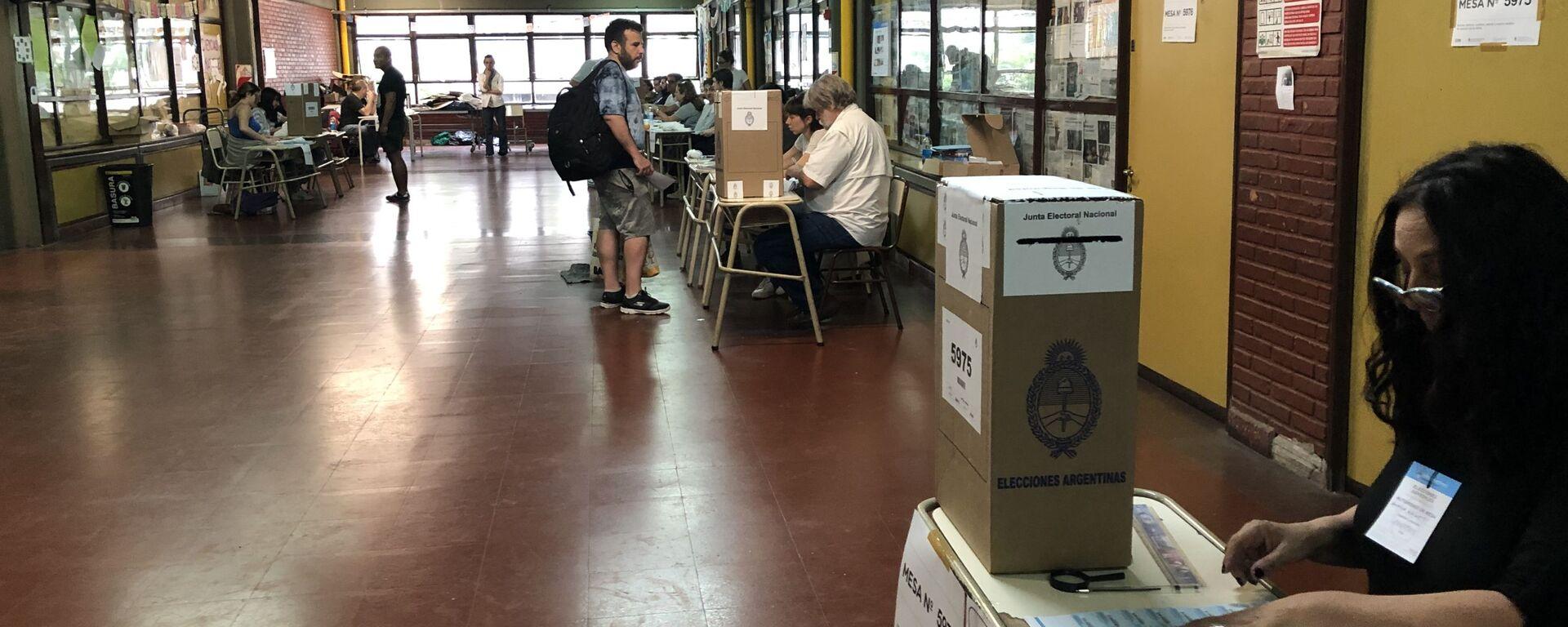 Las urnas de votación en Argentina - Sputnik Mundo, 1920, 08.09.2021