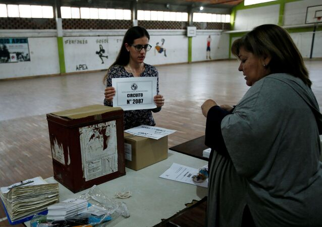 Un circuito electoral en Montevideo, durante las elecciones generales en Uruguay
