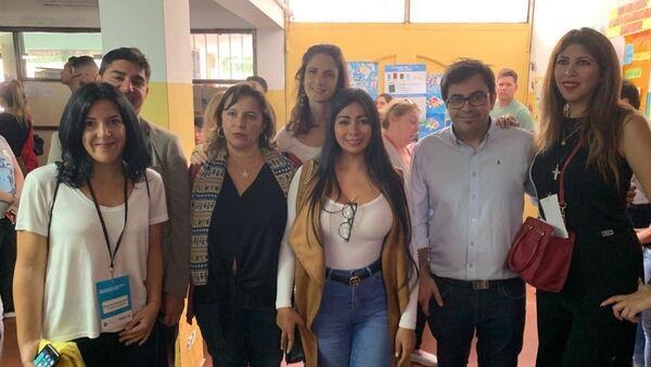 Veedores internacionales supervisan escrutinio en la Escuela 30 Holanda, en Chingolo, Lanús, provincia de Buenos Aires - Sputnik Mundo