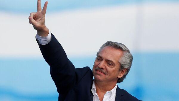 Alberto Fernández, candidato a presidente en Argentina  - Sputnik Mundo