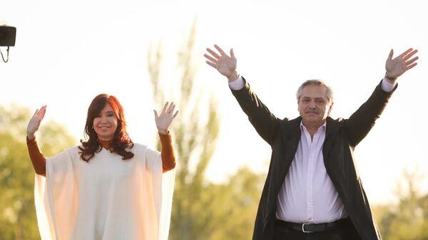Cristina Fernández y Alberto Fernández - Sputnik Mundo