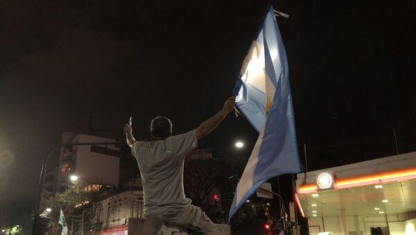 Los argentinos celebran la victoria electoral de Alberto Fernández - Sputnik Mundo