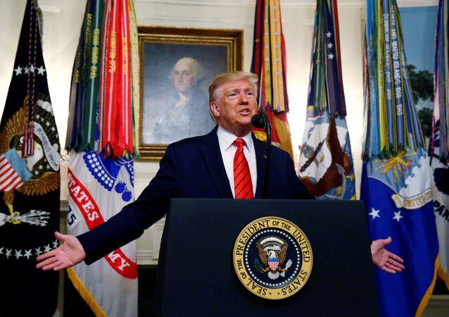 Donald Trump, presidente de EEUU, confirma la muerte del líder de ISIS, Abu Bakr Bagdadi