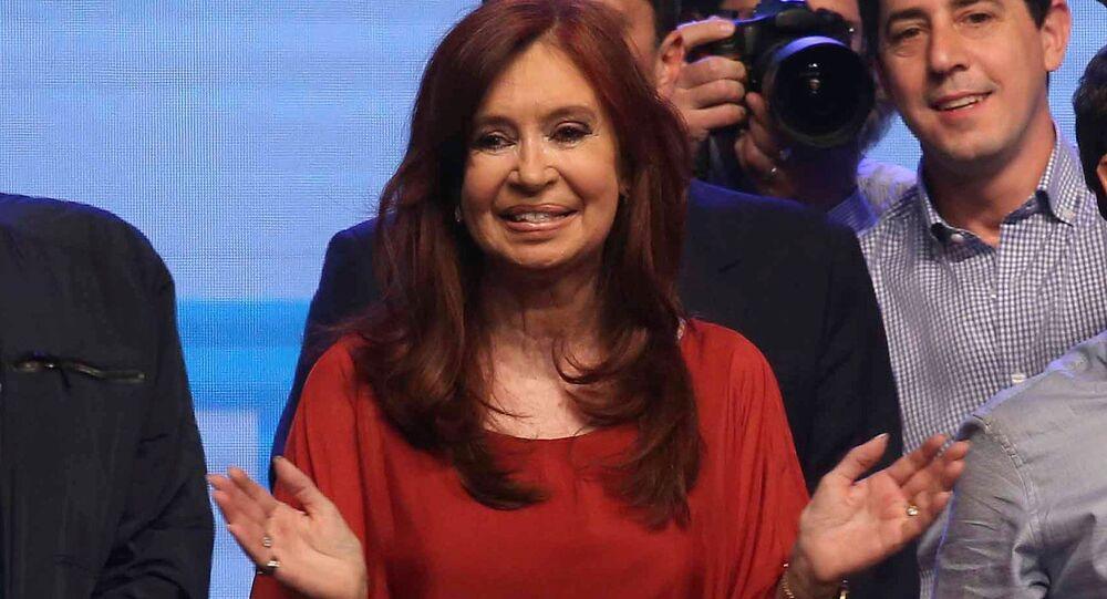 Cristina Fernández de Kirchner, senadora y vicepresidenta electa de Argentina