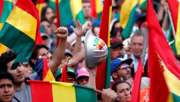 Una manifestación opositora en La Paz, Bolivia - Sputnik Mundo