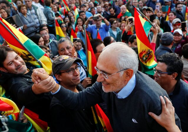 Carlos Mesa, candidato opositor boliviano