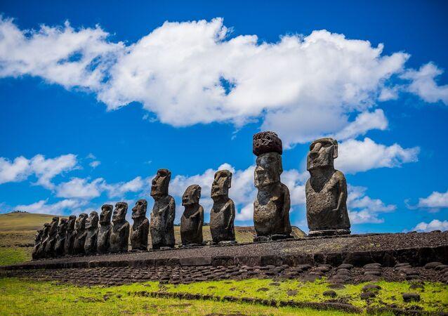 Los moais de la Isla de Pascua