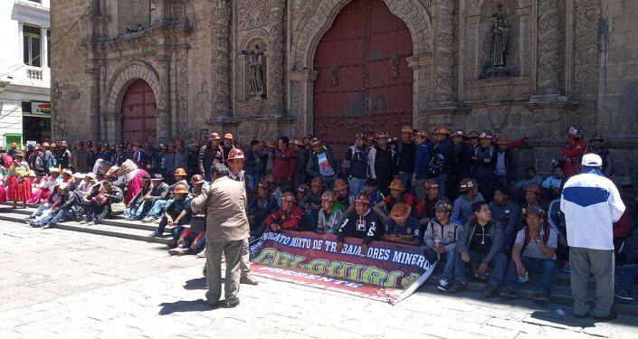 Respaldo popular al presidente Evo Morales en La Paz