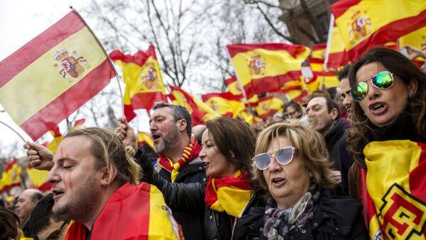 El mitin en España (archivo) - Sputnik Mundo