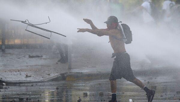 Protestas contra el Gobierno en Chile - Sputnik Mundo