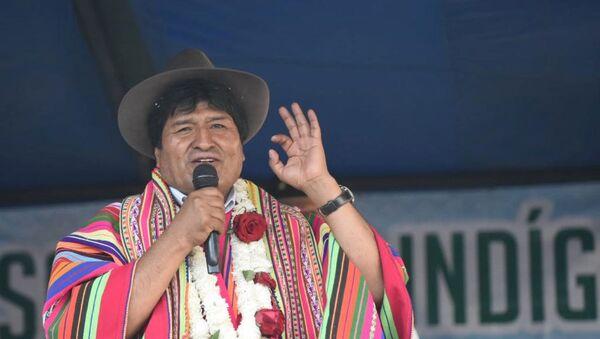 Evo Morales, presidente electo de Bolivia - Sputnik Mundo