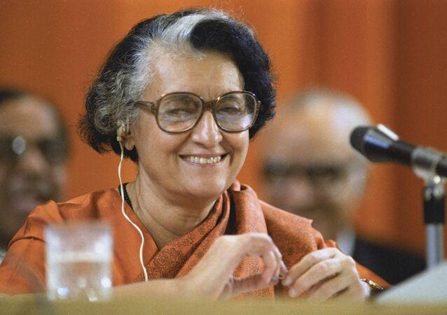 Indira Gandhi, la primera ministra de la India