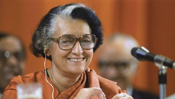 Indira Gandhi, ex primera ministra de la India - Sputnik Mundo