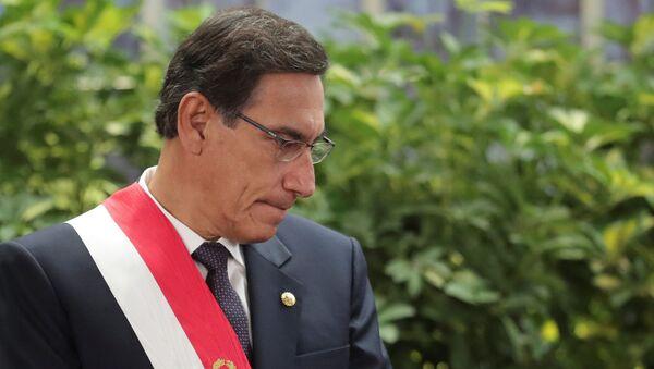 El presidente de Perú, Martín Vizcarra - Sputnik Mundo