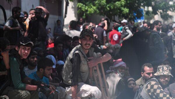 Terroristas en Siria (archivo) - Sputnik Mundo