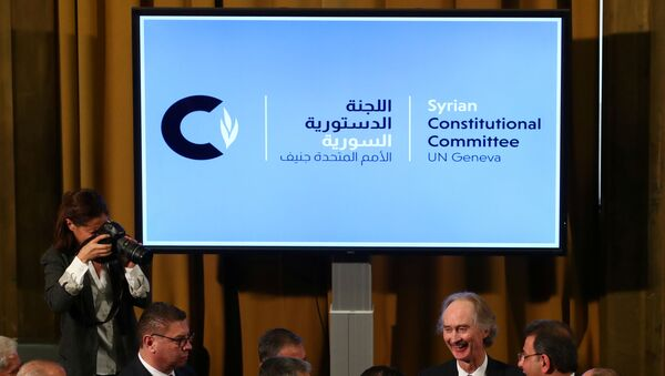 Logo del Comité Constitucional sirio - Sputnik Mundo