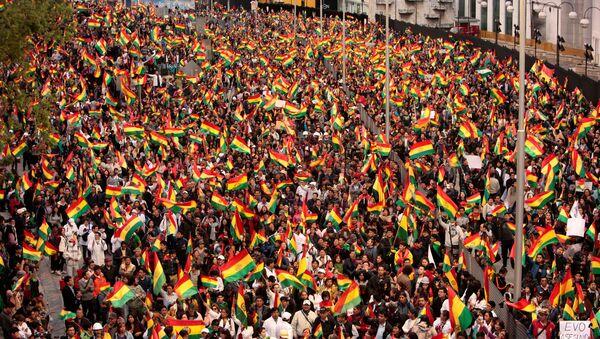 Las protestas en Bolivia (archivo) - Sputnik Mundo