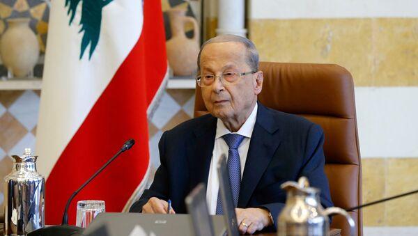 Michel Aoun, presidente del Líbano - Sputnik Mundo
