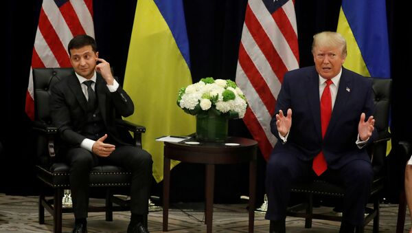 Volodímir Zelenski, presidente de Ucrania, y Donald Trump, presidente de EEUU - Sputnik Mundo
