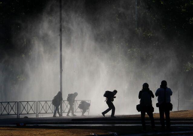 Las protestas en Chile