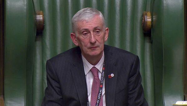Sir Lindsay Hoyle, presidente electo de la Cámara Baja del Parlamento británico - Sputnik Mundo