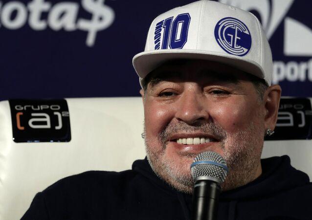 Diego Armando Maradona, exfutbolista argentino