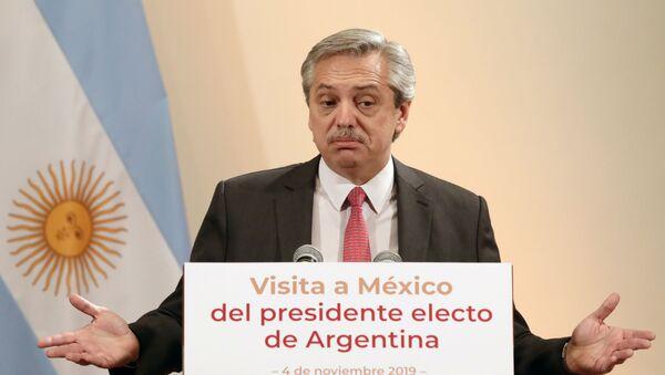El presidente electo de Argentina, Alberto Fernández - Sputnik Mundo