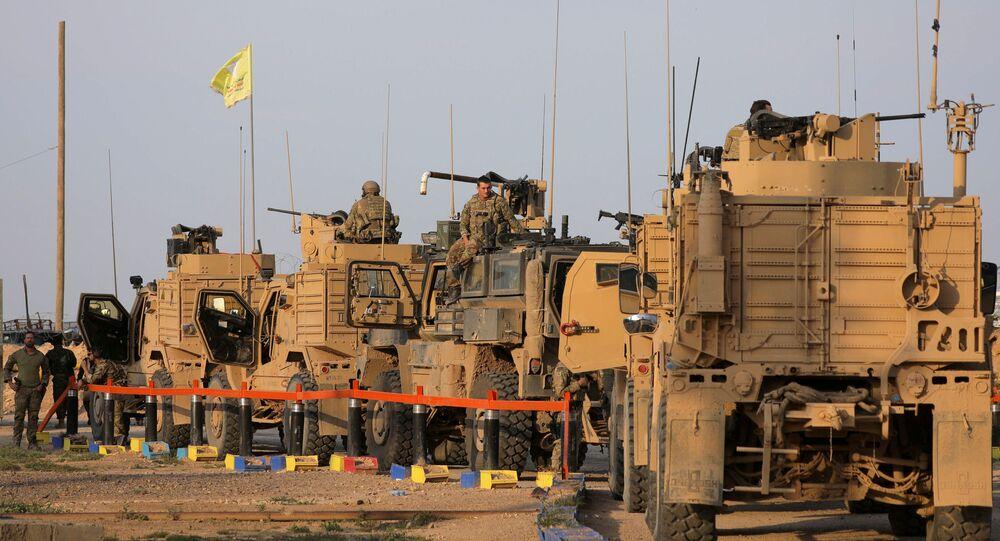 Vehículos militares de EEUU en Siria (archivo)