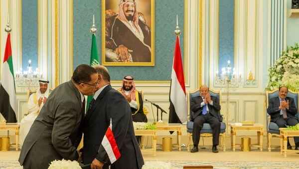 Representantes del Gobierno de Yemen y separatistas del Sur - Sputnik Mundo