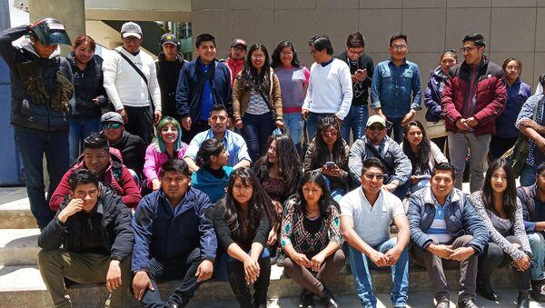 Actividad del Comité de Jóvenes por la Defensa del Proceso de Cambio reunidos en la ciudad de El Alto (Bolivia) - Sputnik Mundo