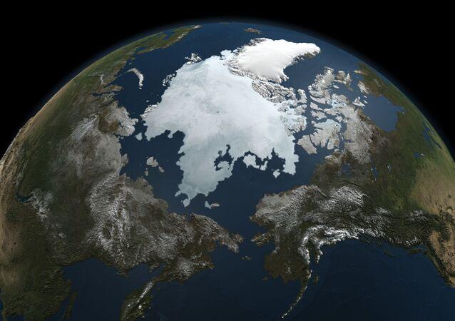 Hielo en el océano Ártico