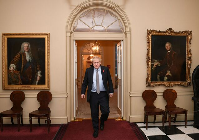Boris Johnson en el Palacio de Buckingham