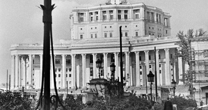 Edificio del Teatro del Ejército Soviético en 1940