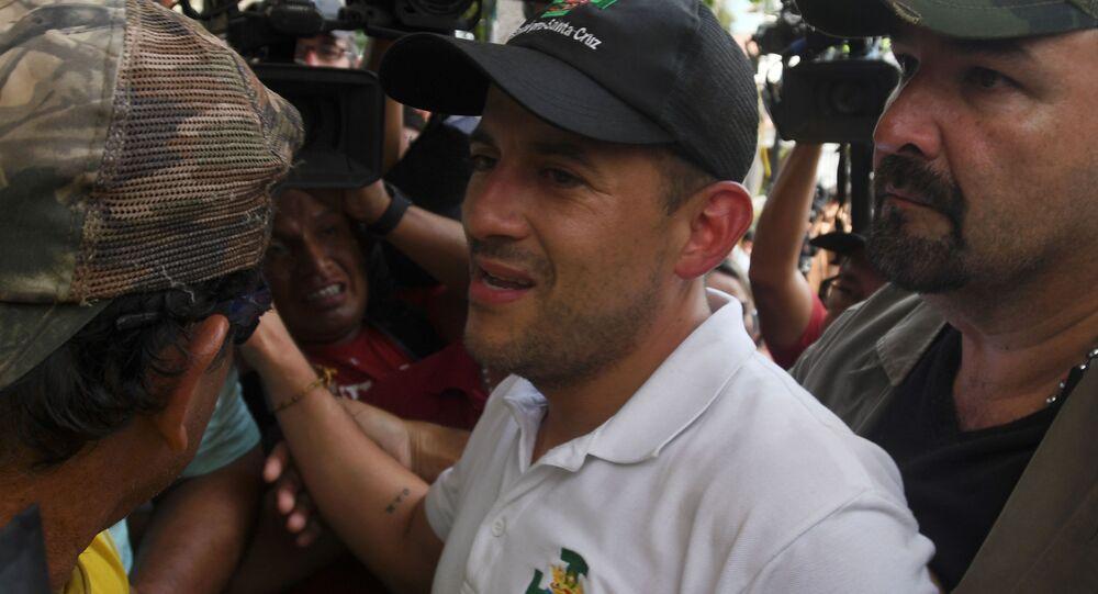 Luis Fernando Camacho, líder opositor boliviano