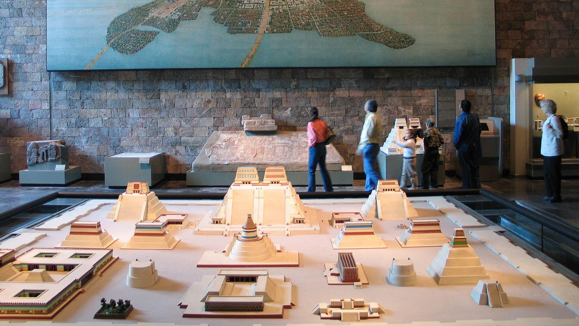 Модель города-государства ацтеков Теночтитлана в музее Мехико - Sputnik Mundo, 1920, 13.08.2021