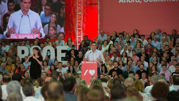 Pedro Sánchez, presidente español en funciones y candidato del PSOE en las elecciones generales - Sputnik Mundo