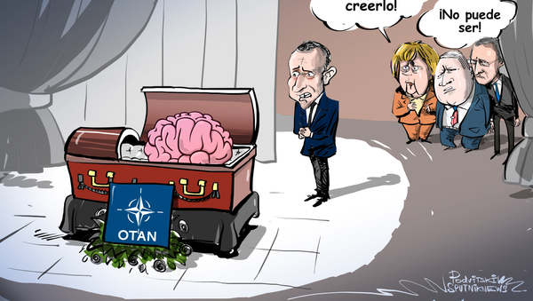 El 'funeral' del cerebro de la OTAN - Sputnik Mundo