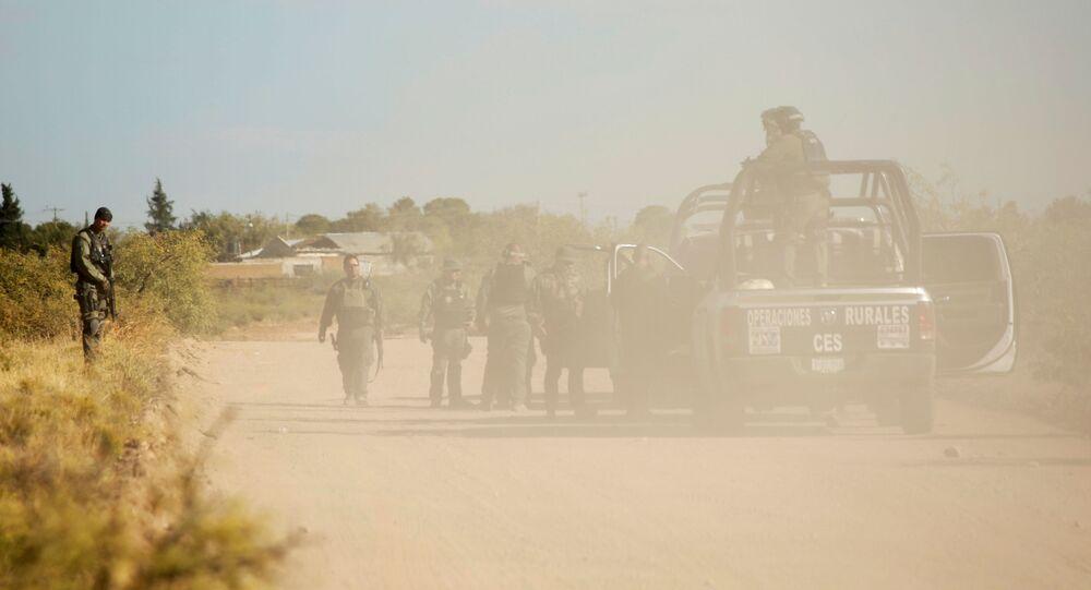 La Policía de México en un operativo