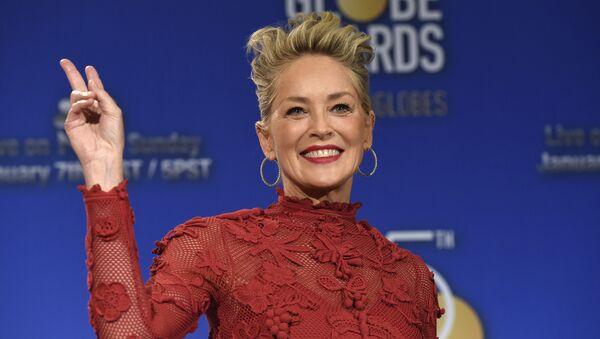 Sharon Stone, actriz estadounidense - Sputnik Mundo