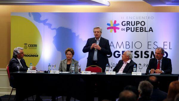 Los líderes del Grupo de Puebla en la reunión en Buenos Aires, Argentina - Sputnik Mundo