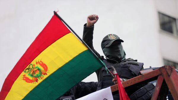 Protestas contra la reelección de Evo Morales en La Paz, Bolivia - Sputnik Mundo