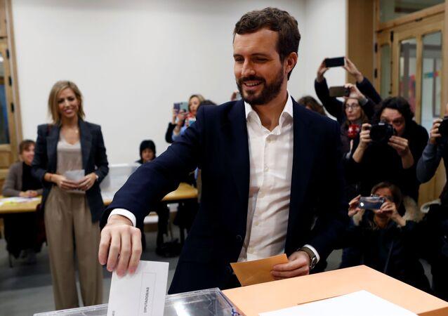 Pablo Casado, candidato por el partido PP