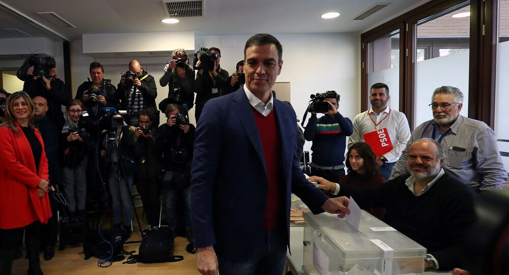 Pedro Sánchez, líder del Partido Socialista español