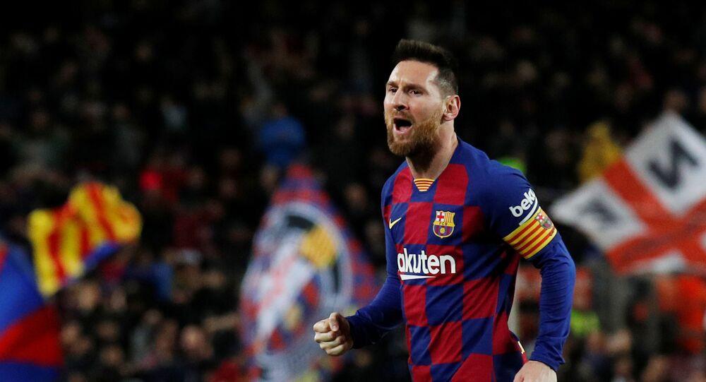 Lionel Messi, futbolista de la selección argentina