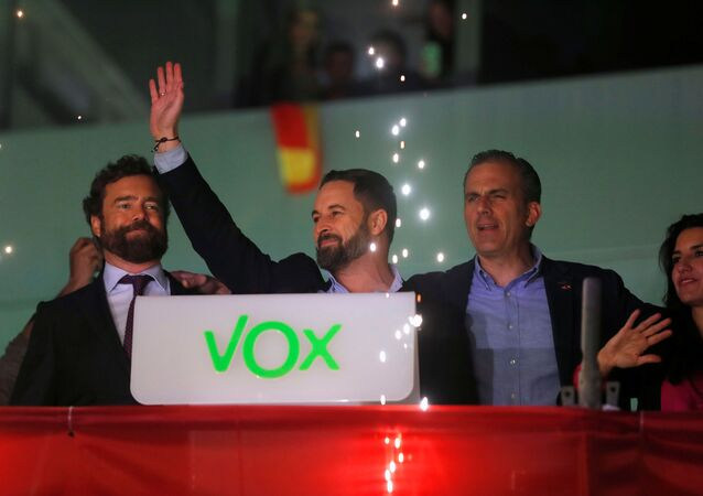 Santiago Abascal, líder del partido de ultraderecha español Vox