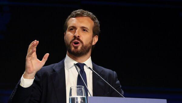 Pablo Casado, presidente del Partido Popular de España - Sputnik Mundo