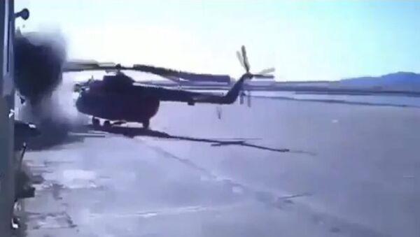 Un helicóptero queda destrozado al chocar contra un edificio - Sputnik Mundo