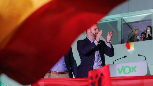El candidato para las elecciones del 10-N del partido de extrema derecha Vox, Santiago Abascal  - Sputnik Mundo