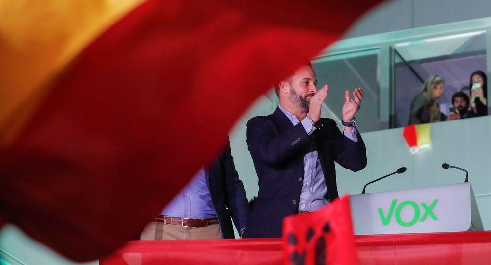 El candidato para las elecciones del 10-N del partido de extrema derecha Vox, Santiago Abascal