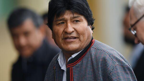 Evo Morales, expresidente boliviano  - Sputnik Mundo